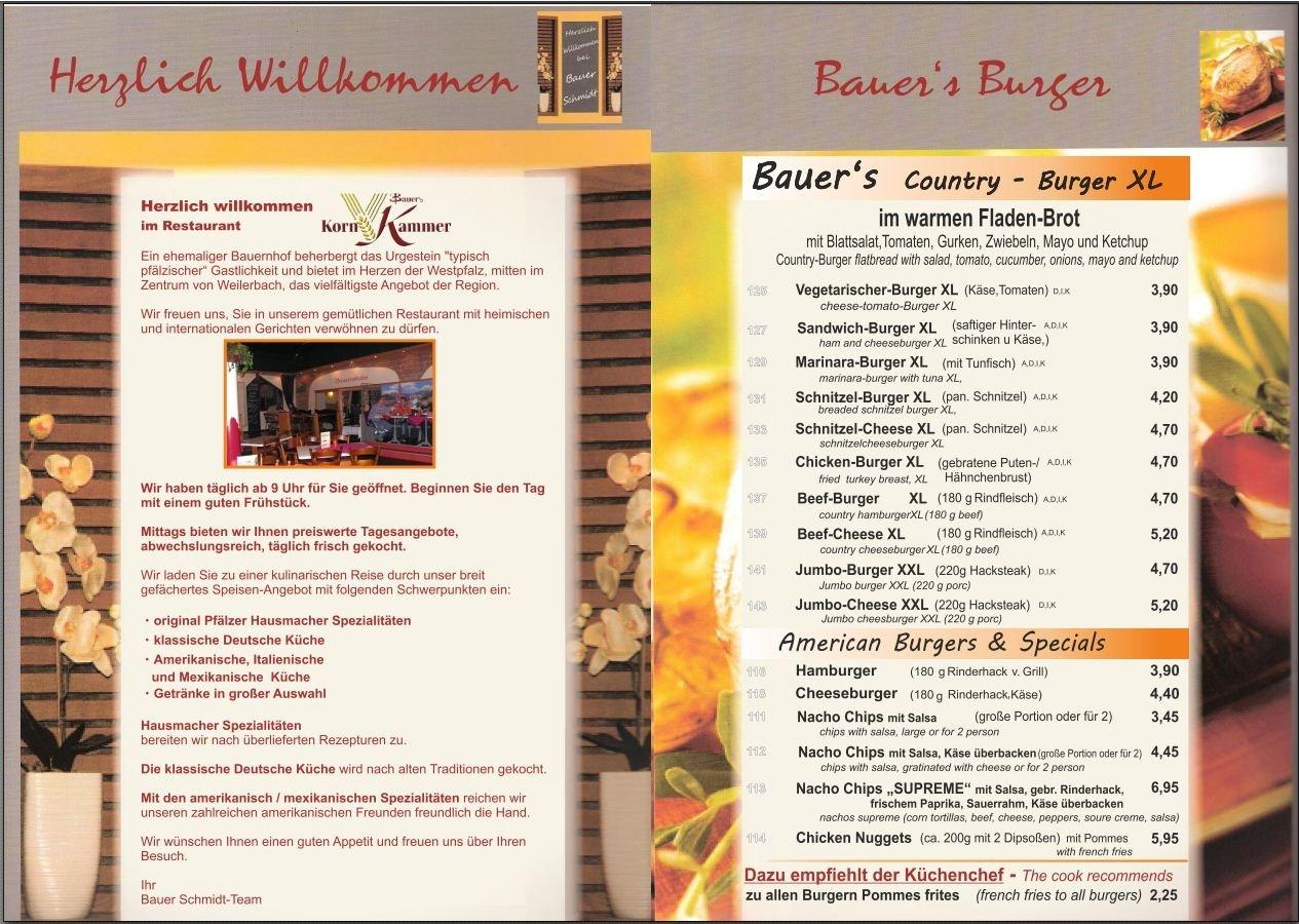 Speisekarte Bauer Schmidt Seite 3