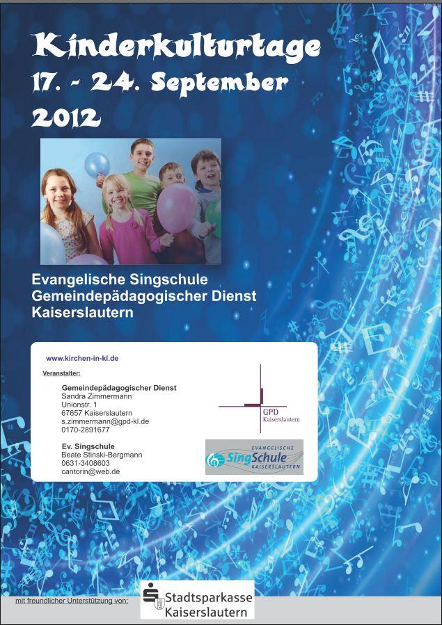Plakat Kinderkulturtage 2012
