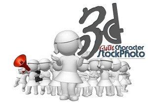 3D Frauen und Männer
