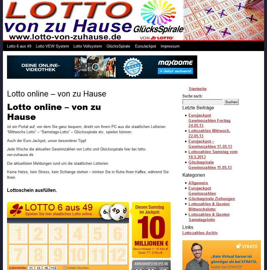 Lotto von zu Hause spielen
