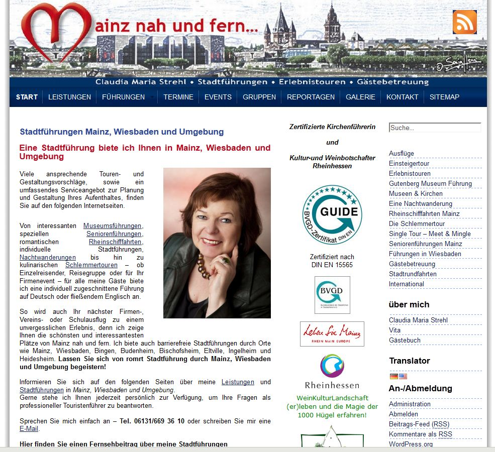 Mainz Wiesbaden Stadtführung