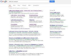 www.lotto-von-zuhause.de - Google Suchergebnis
